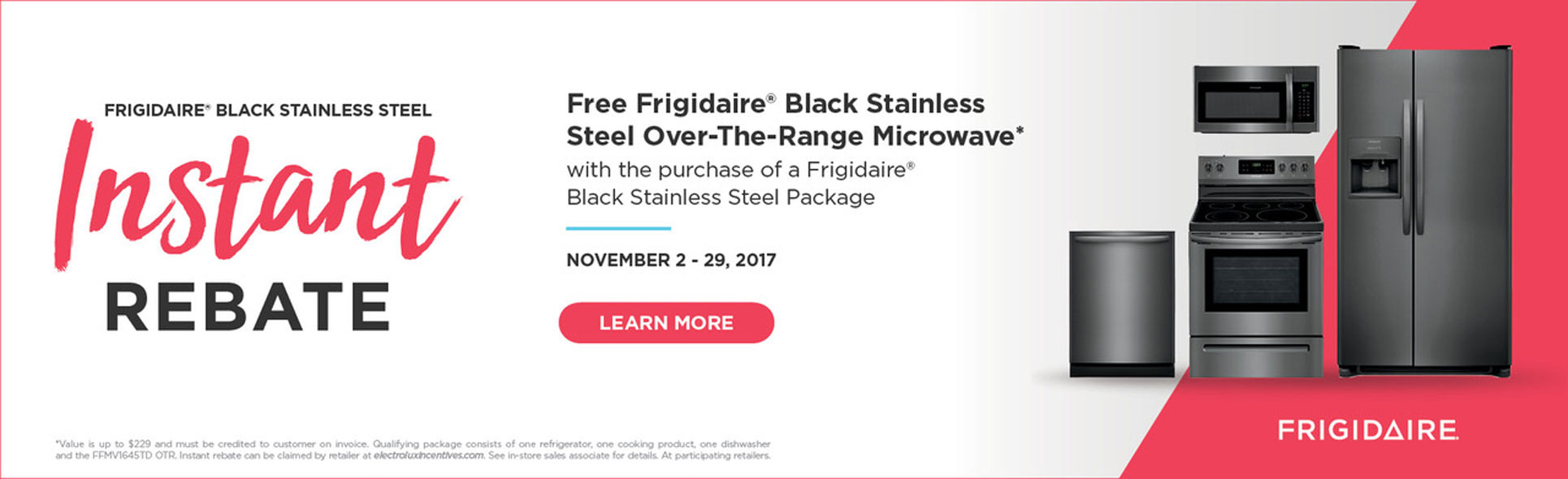 Frigidaire Black Stainless Appliance on Sale